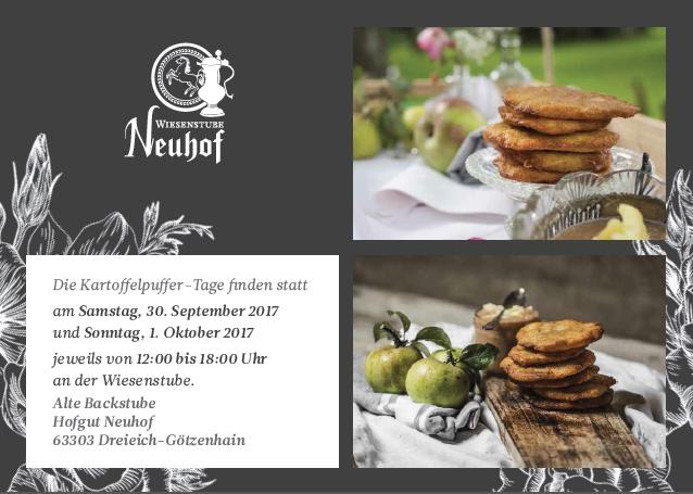 Kartoffelpuffer-Tage 2017 an der Alten Backstube - Hofgut Neuhof